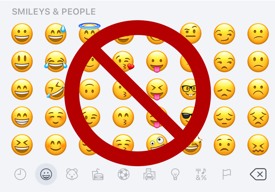 Emoji page rejected