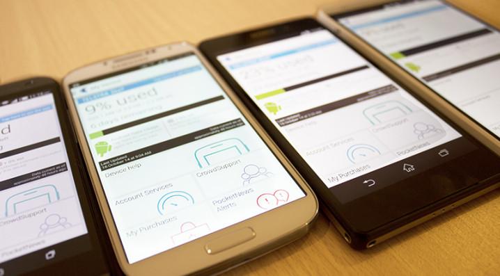 Telstra app - data usage