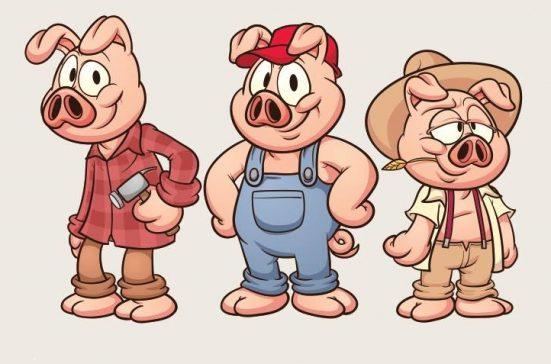 3 pigs