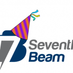 Seventh Beam Logo with a Party Hat